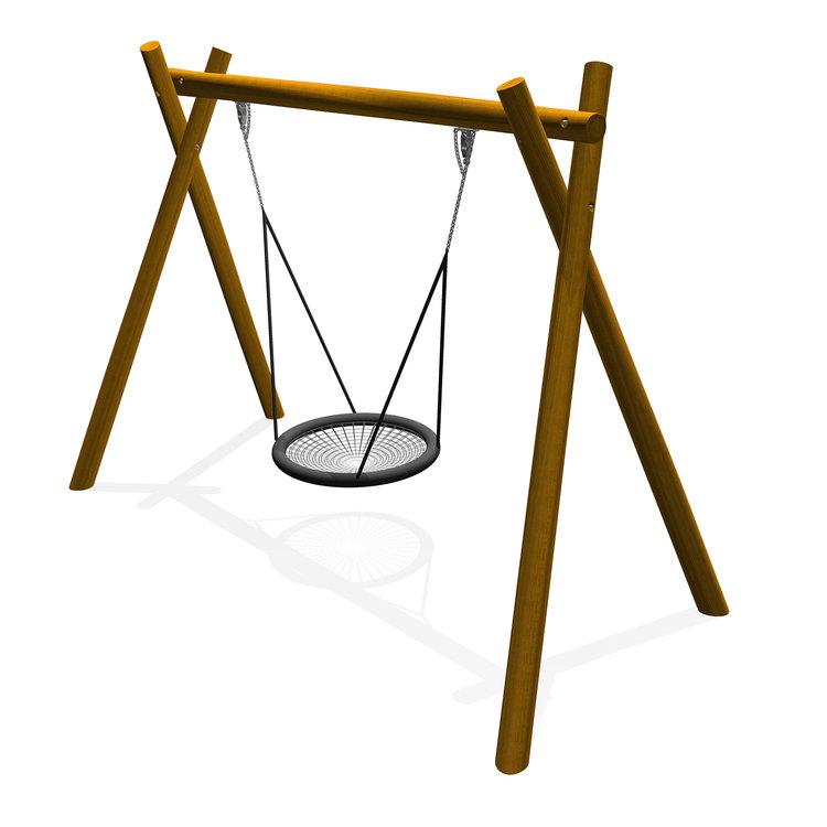a timber robinia basket birdsnest swing seat