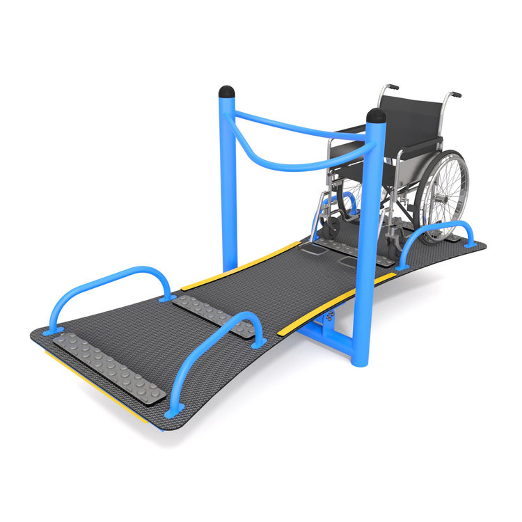 Wheelchair accessible seesaw