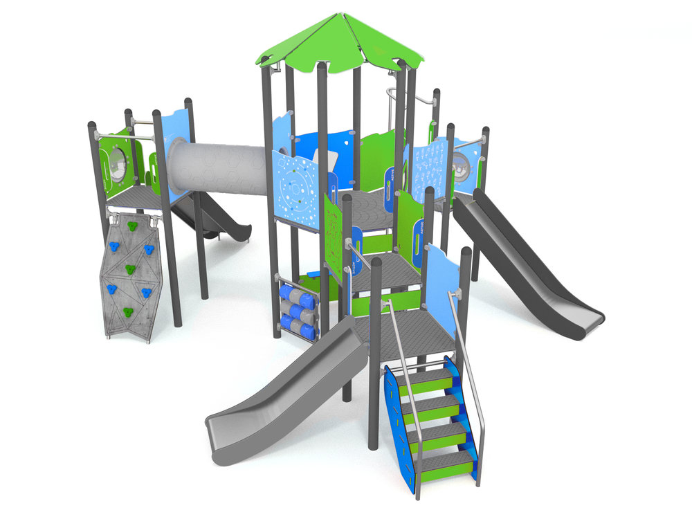 Multi Play Climbing unit with slides