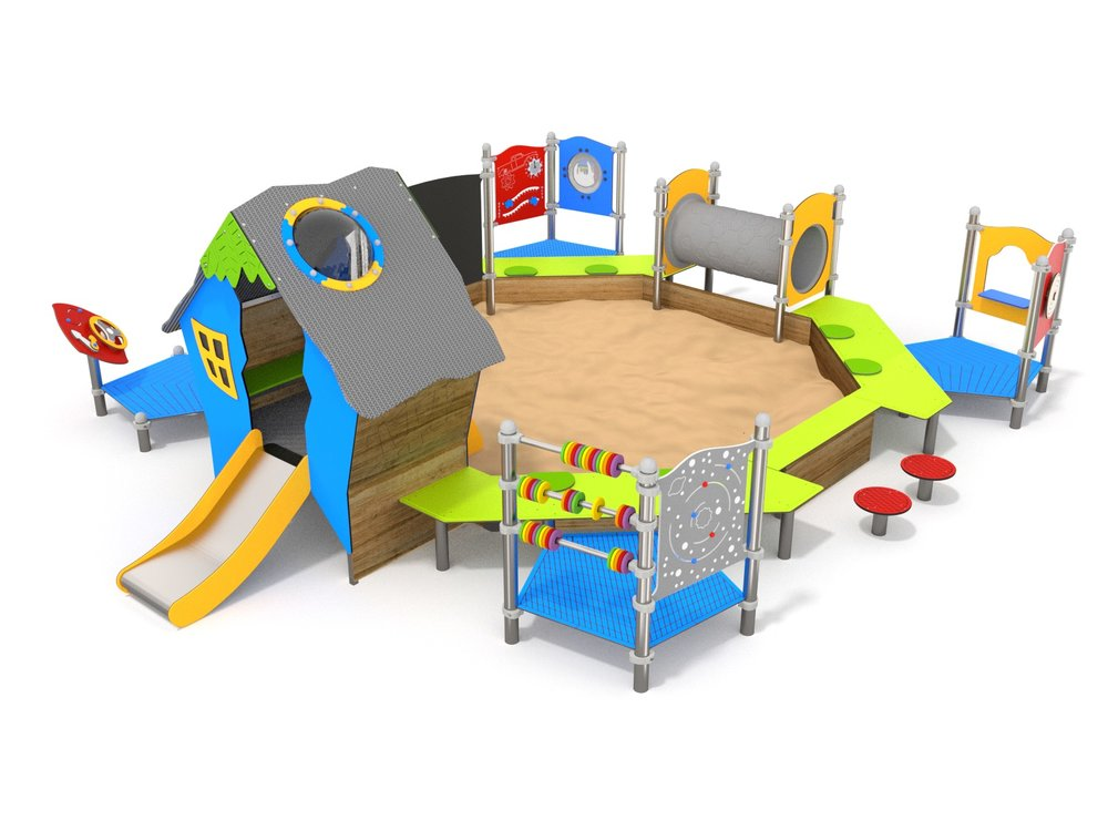 Toddler unit with a sandpit