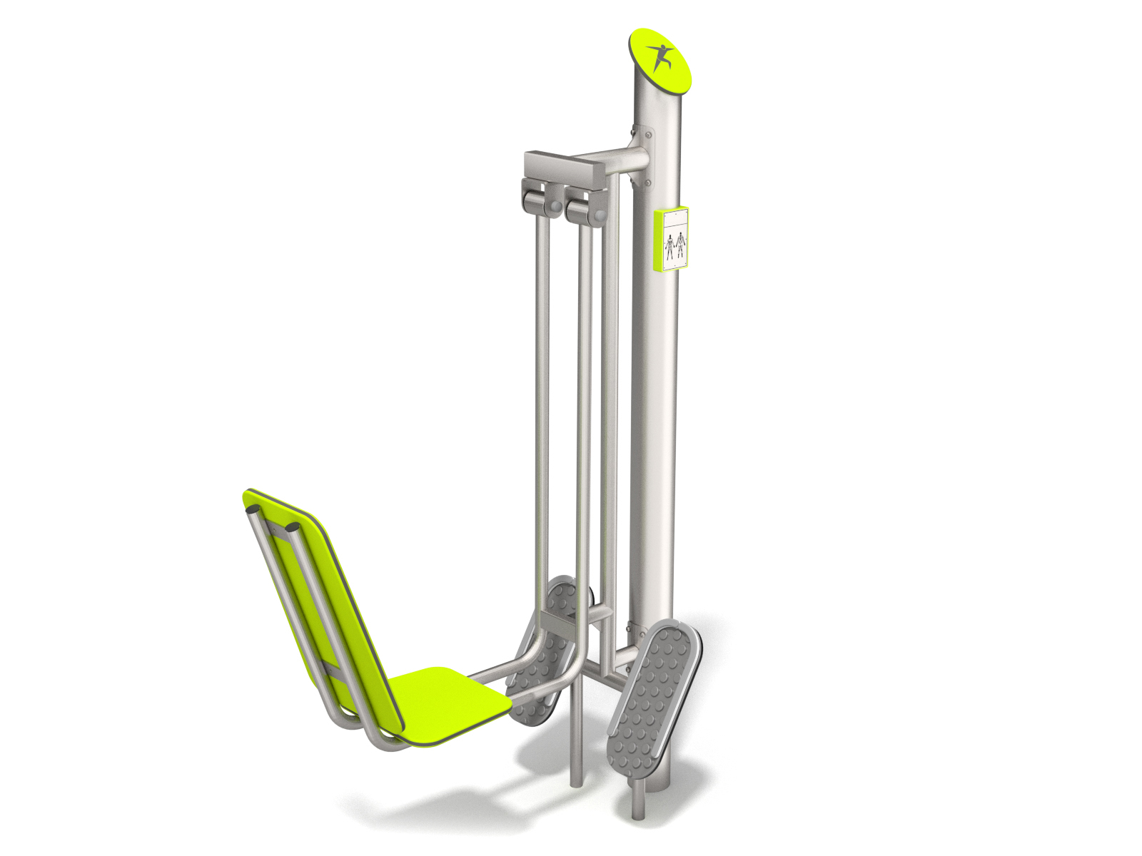 Stainless steel leg press for outdoor gyms