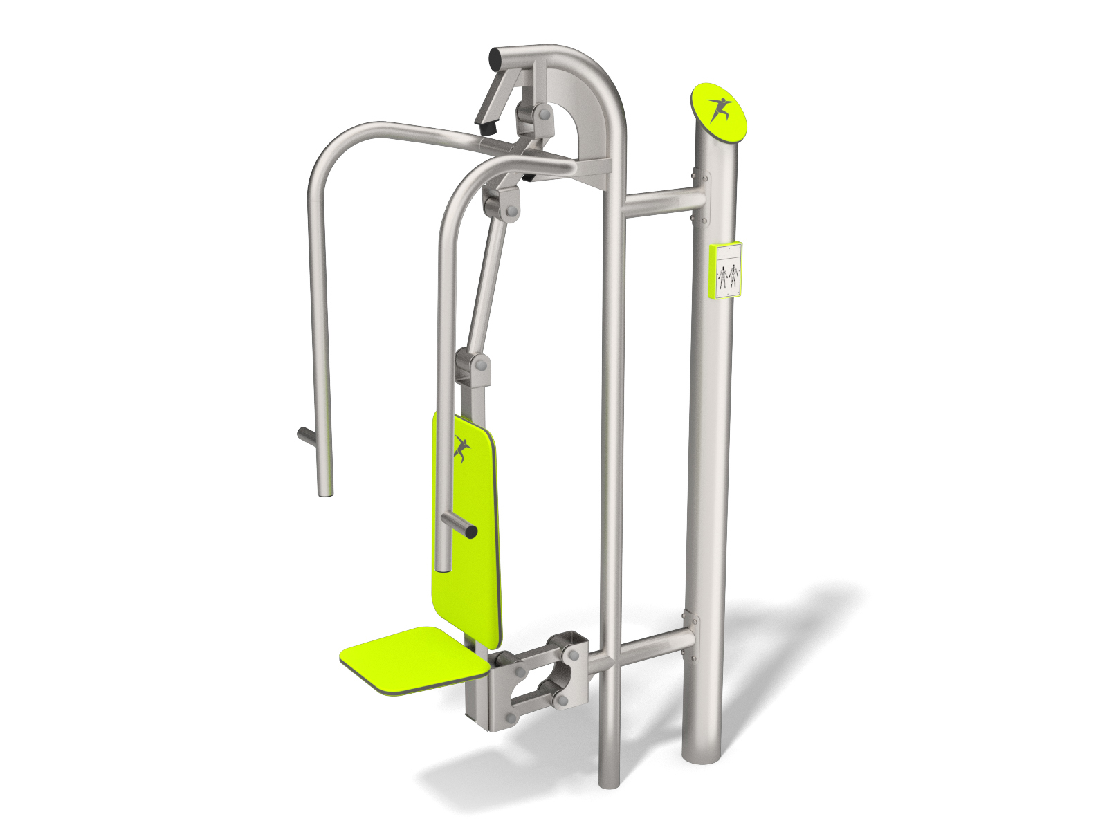 Chest press for outdoor gym in stainless steel
