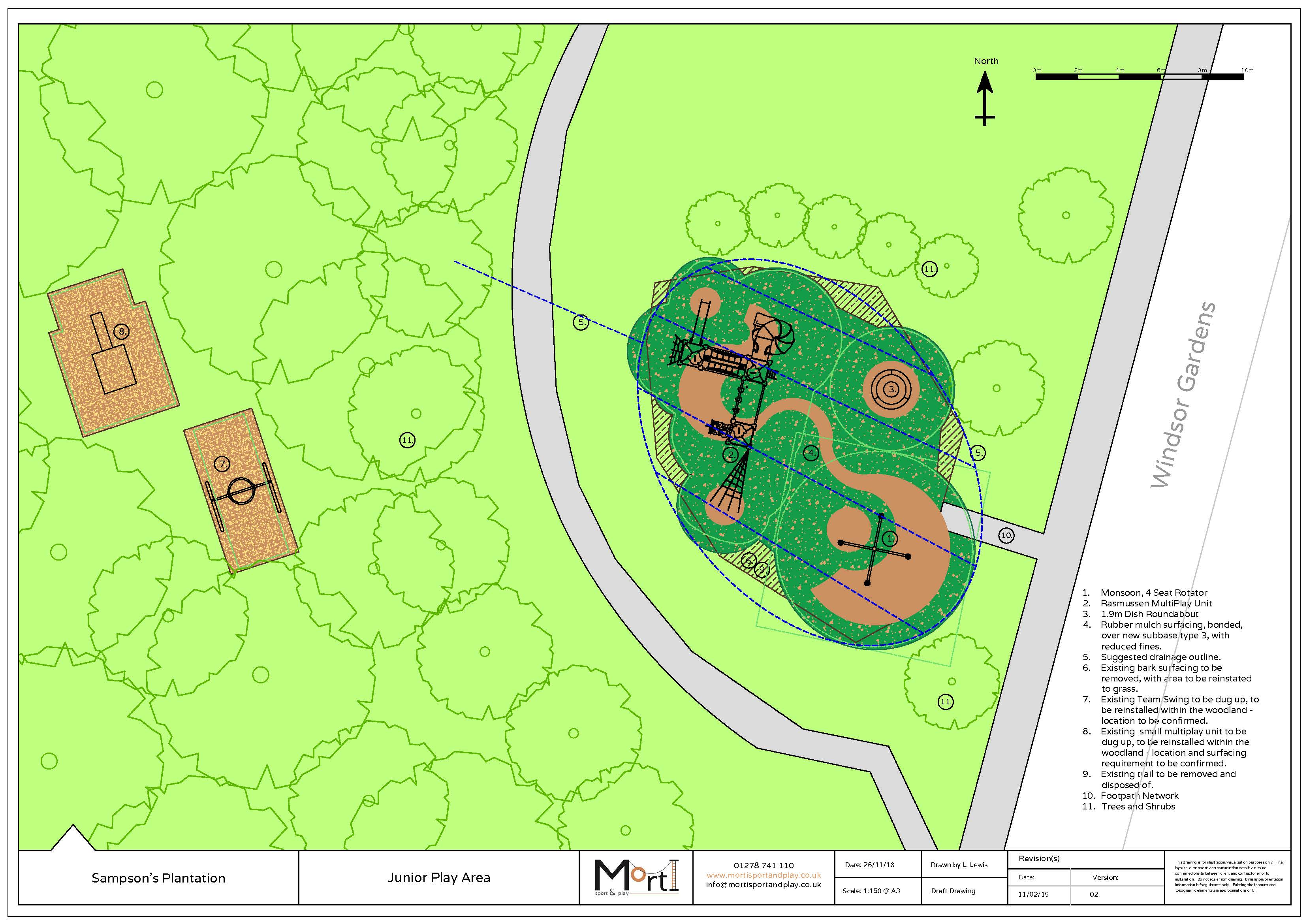 Sampsons Drainage Plan For Devon Playground