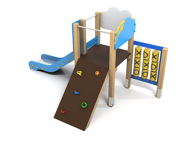 Play Area Equipment climbing and slide structure