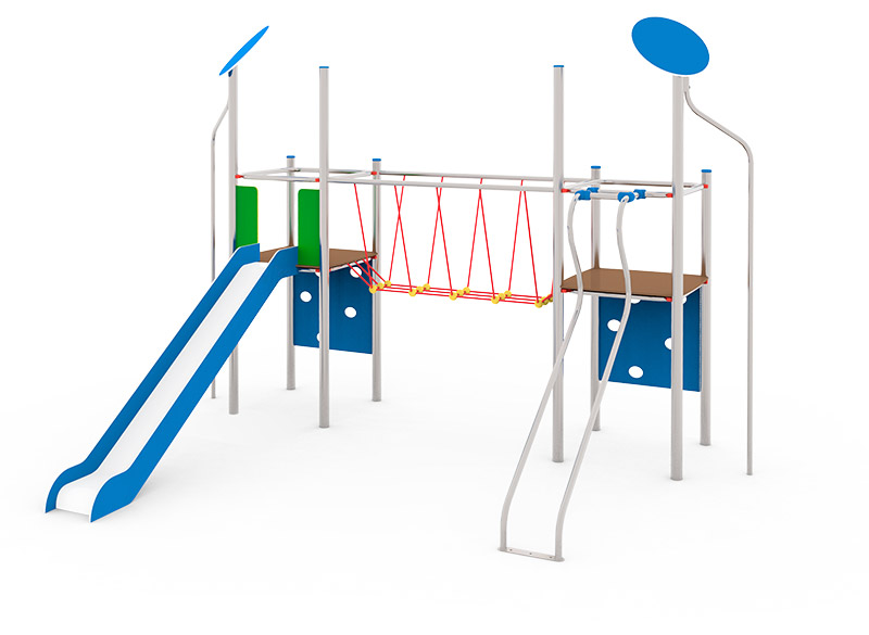 Metal play area structure