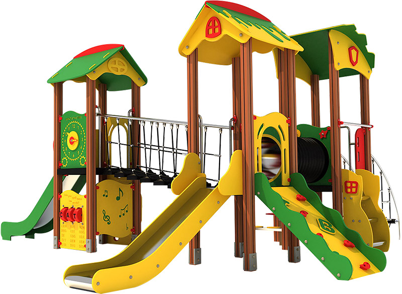 Play Area Equipment Multiplayy Structure