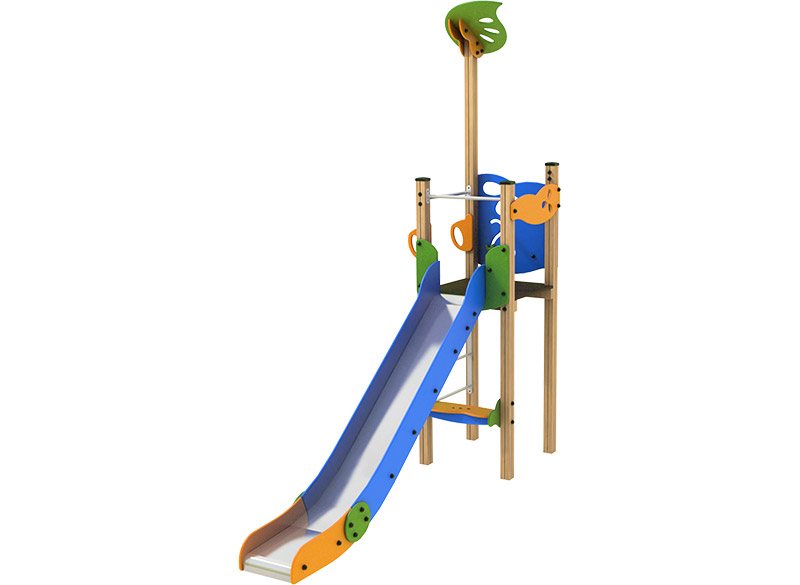 Play Area Slide Structure with platfrom