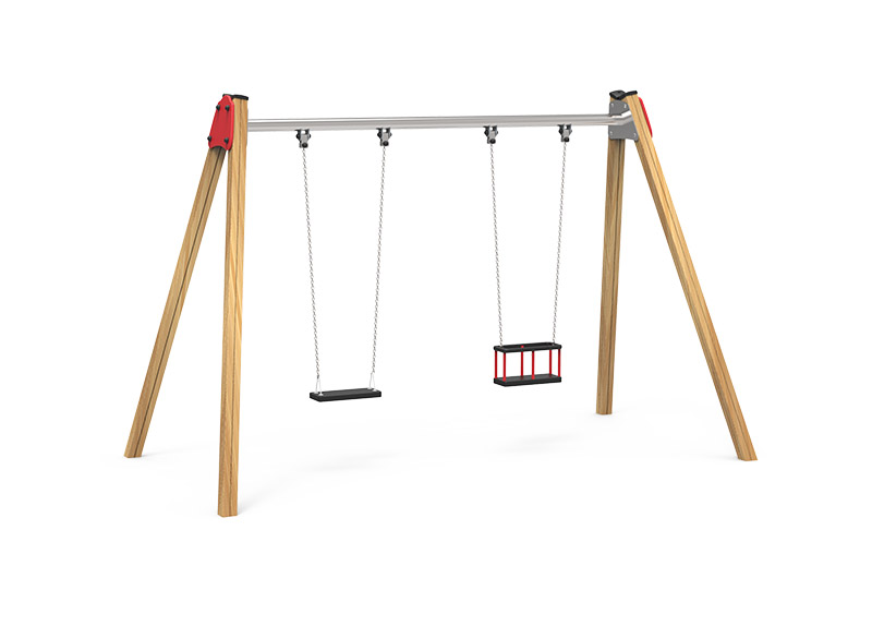 Play Area Wooden Swing