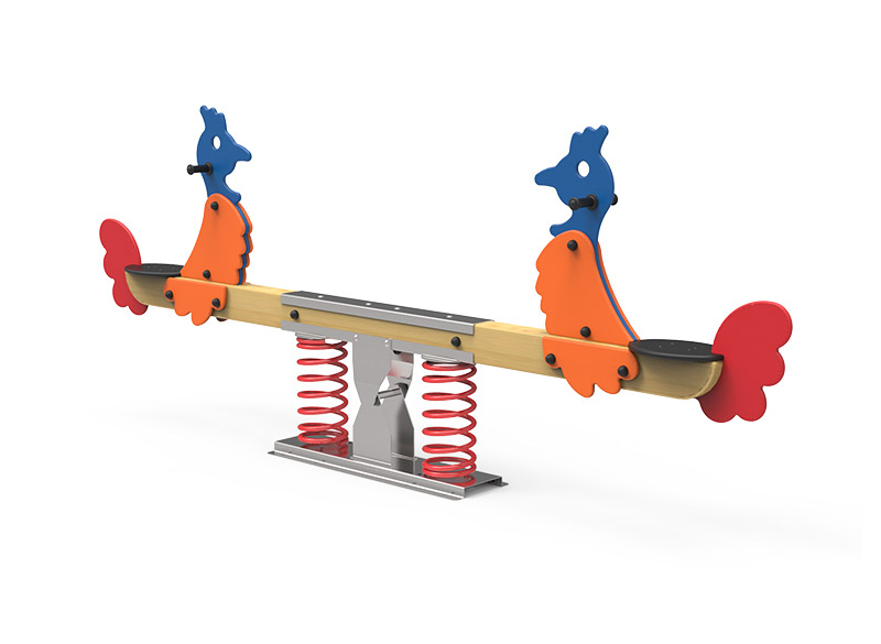 Springer seesaw for play areas