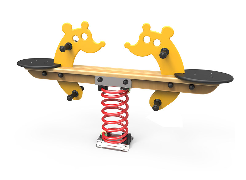 Giraffe themes springer seesaw for play areas