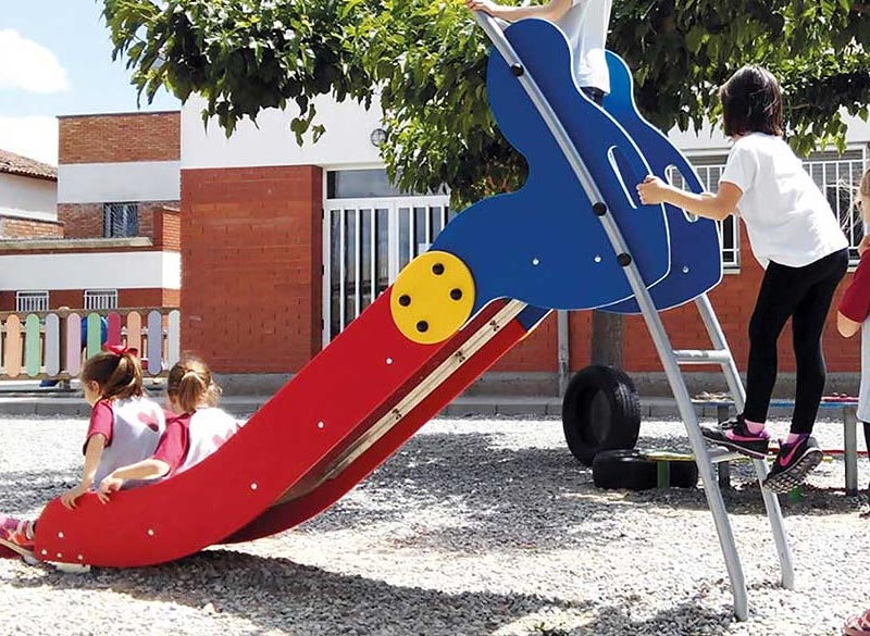 Play area slide for younger children