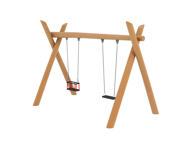 Robinia natura wooden swing set for parks and playgrounds