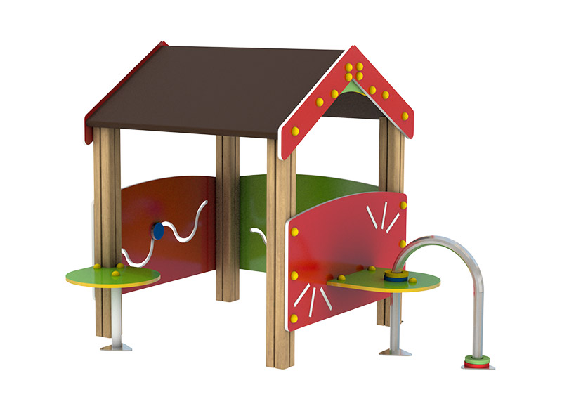 Commercial park and play equipment play house