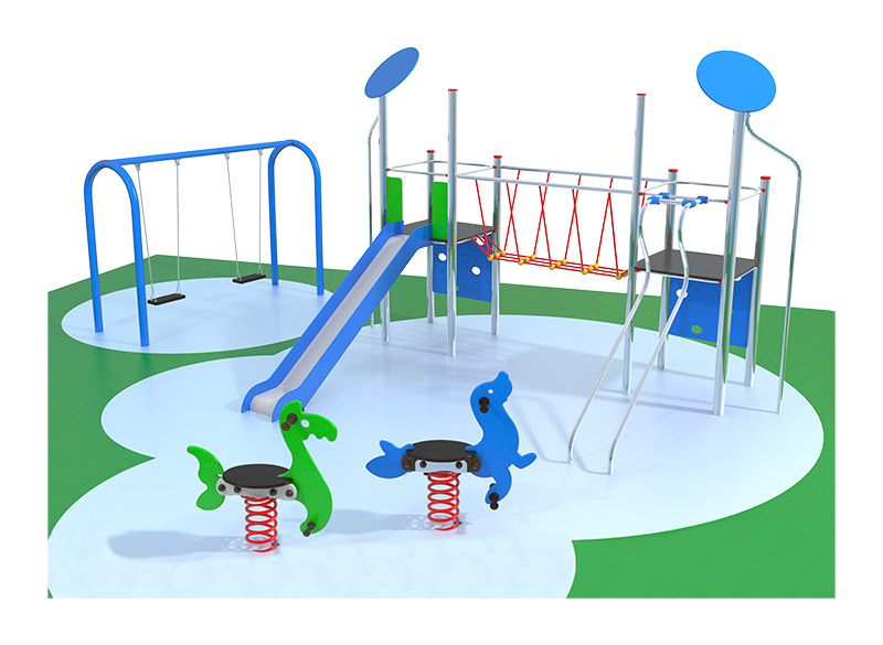 Play area equipment package