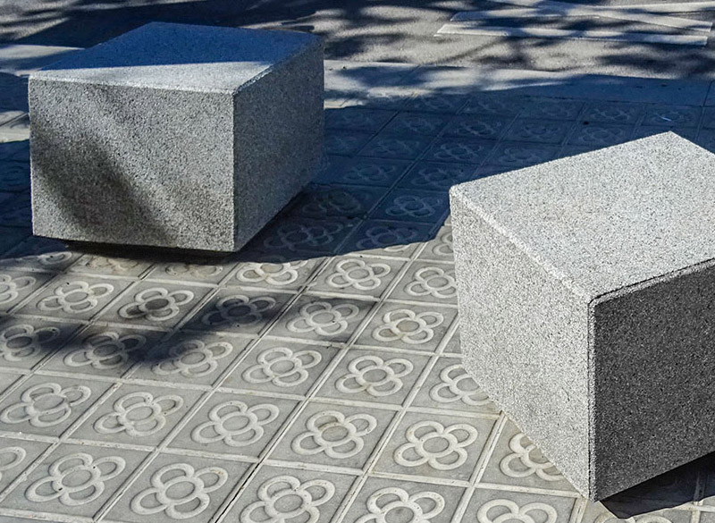 Concrete blocks for urban outdoor seating