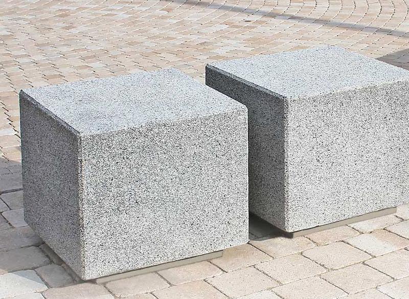 Concrete blocks for urban outdoor seating