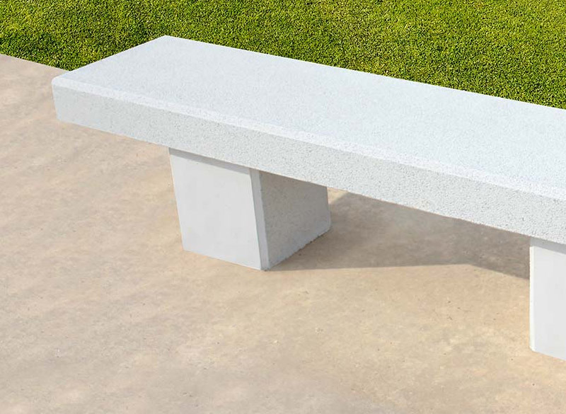 Clean and modern concrete park bench
