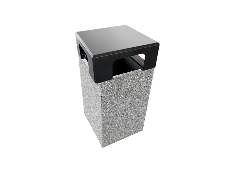 Dado Litter Bin With Lid