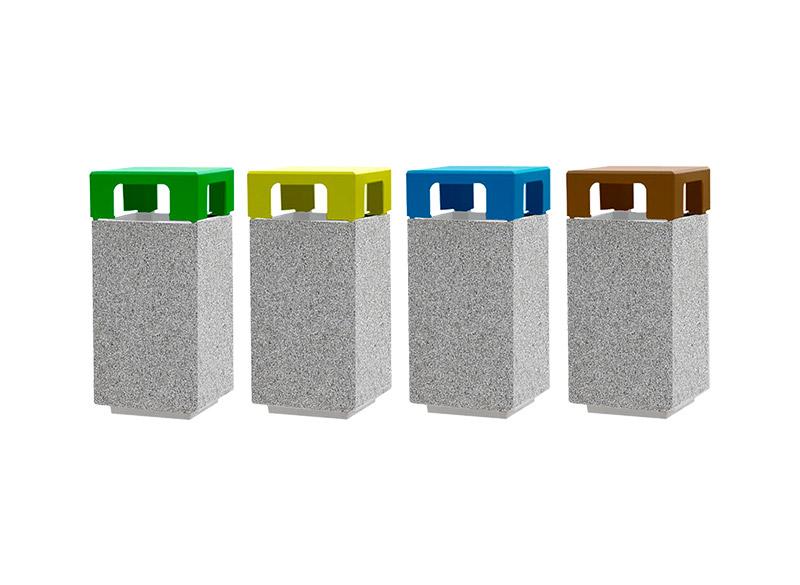 Dado Litter Bin Solid