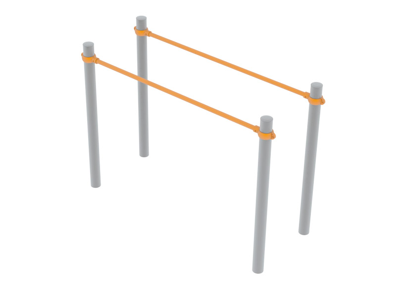 Durable metal outdoor agility trail equipment for street workout