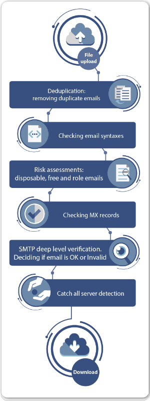 Bulk Email Verification (Email List Cleaning) & Real Time API
