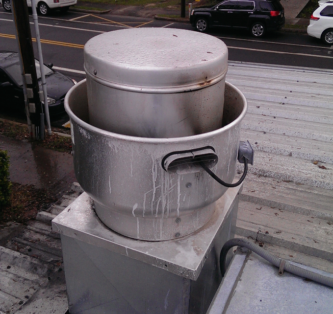Keep all vents clean and safe from grease build up.