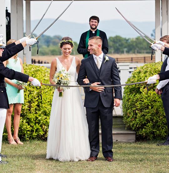 Outdoor Wedding Ceremony at Virginia best wedding venue