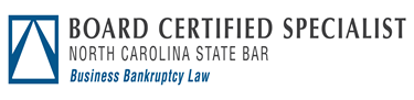 North Carolina State Bar Badge fo Board Certified Specialist in Business Bankruptcy Law