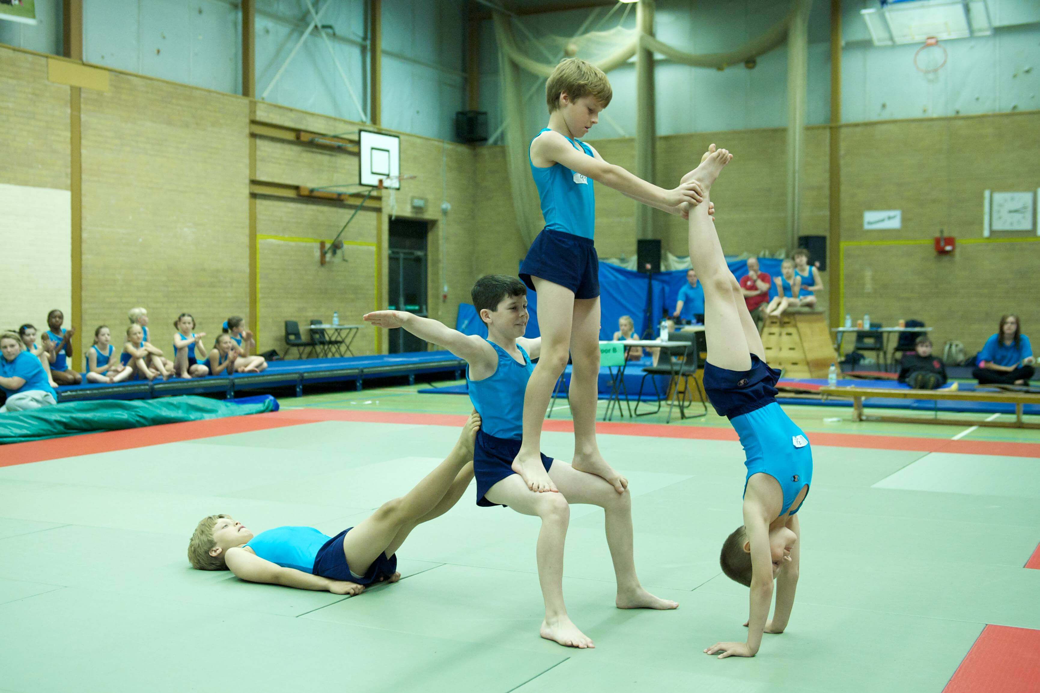 gymnasts learning