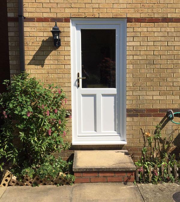 house with classic uPVC doors