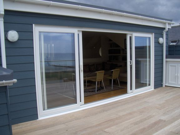house with uPVC patio sliding doors