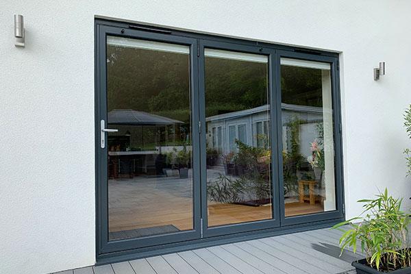 house with aluminium bi-folding doors