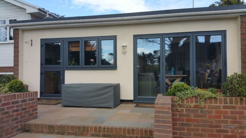 house with aluminium bi-folding doors