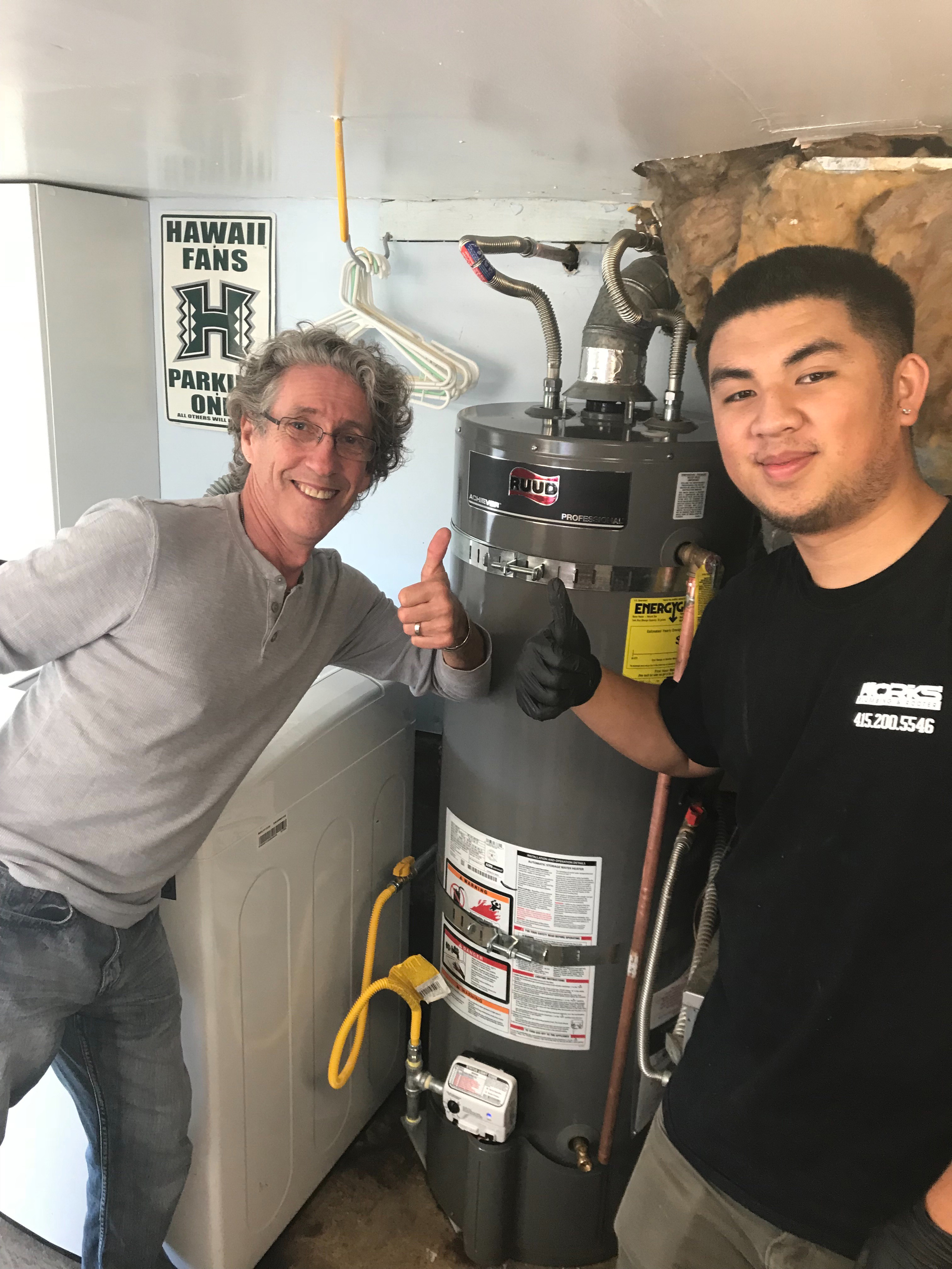water heater installation for a homeowner in pacifica