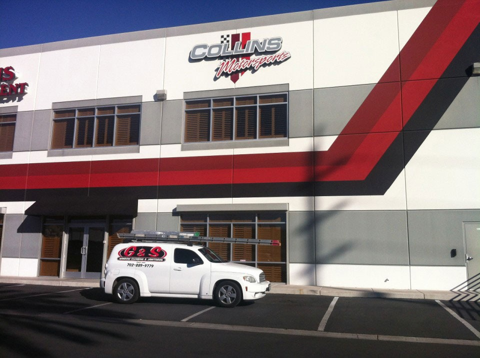commercial window cleaning project in las vegas