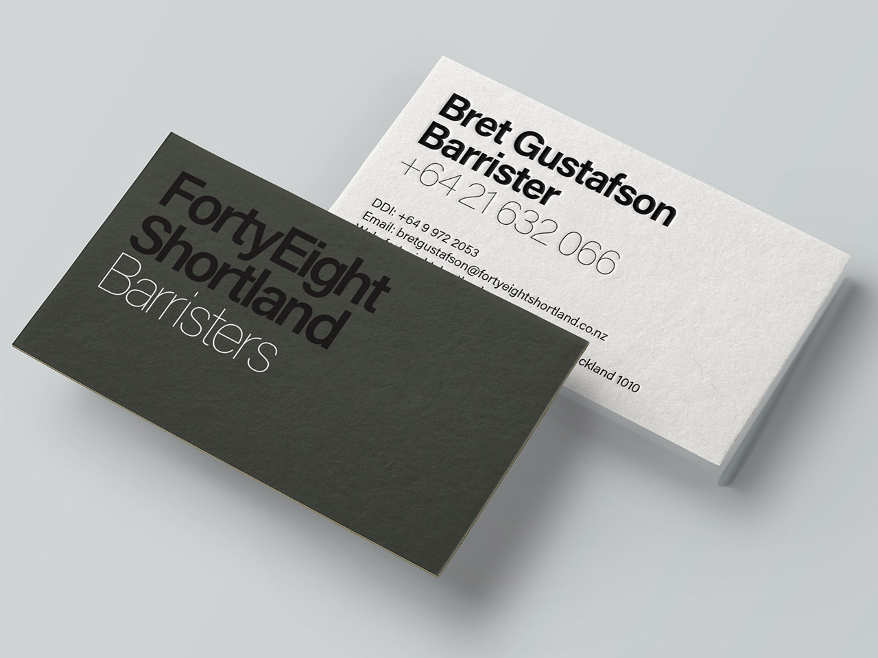 FortyEight Shortland Business Cards