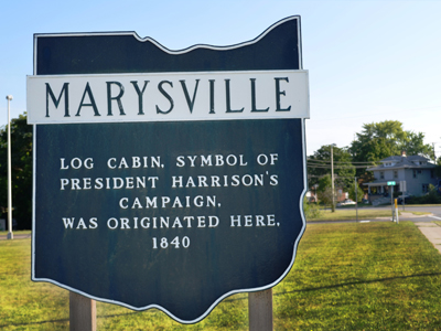 Marysville,  Ohio sign