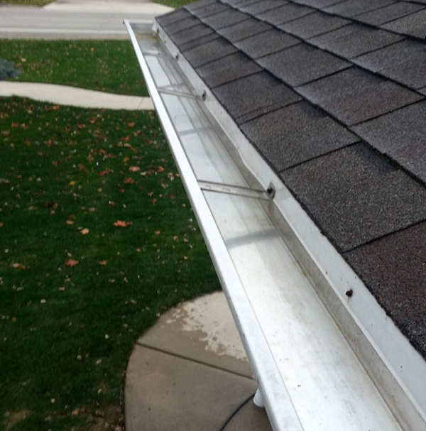 Get your gutters cleaned at least twice a year