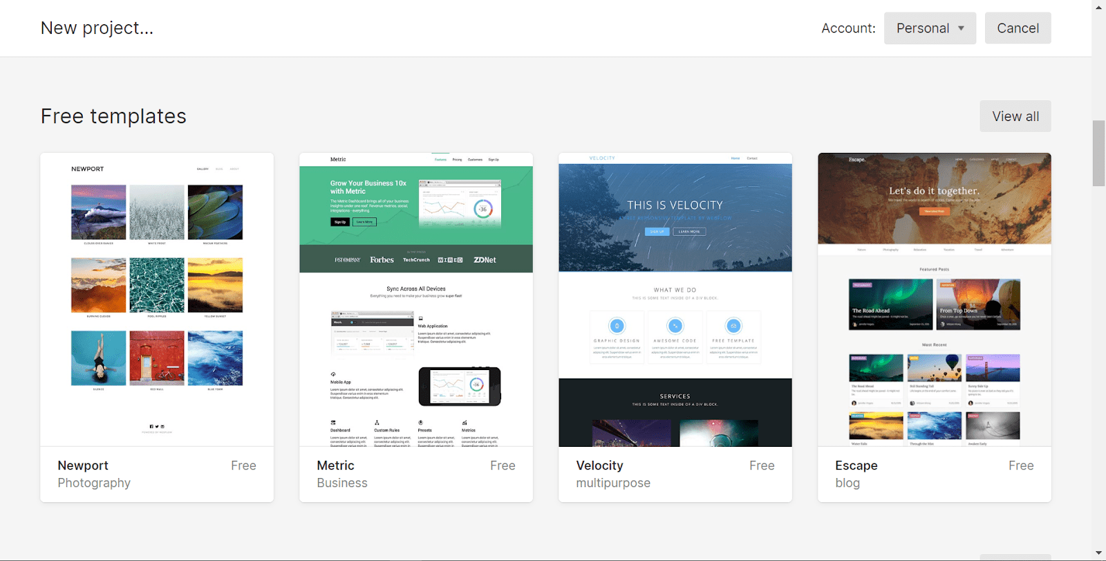 does webflow or squarespace have better templates