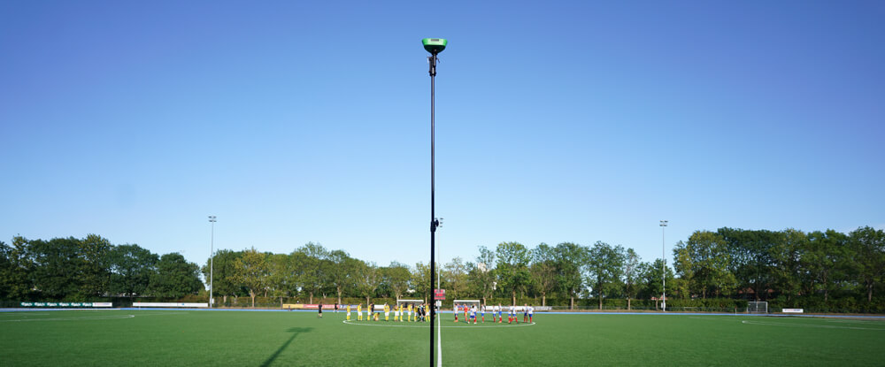 Veo camera recording a football match