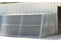 Construction site fencing