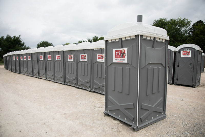 Group of porta johns