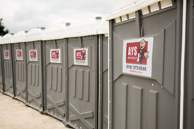 Group of porta potties