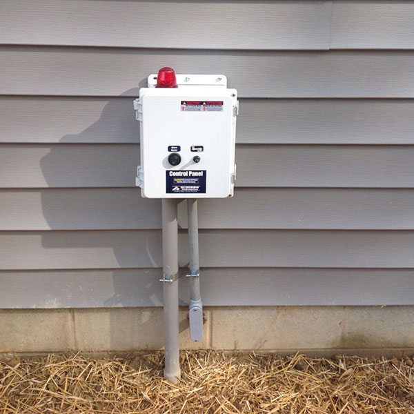 Alarm installation for septic pump in Chesterfield County, VA
