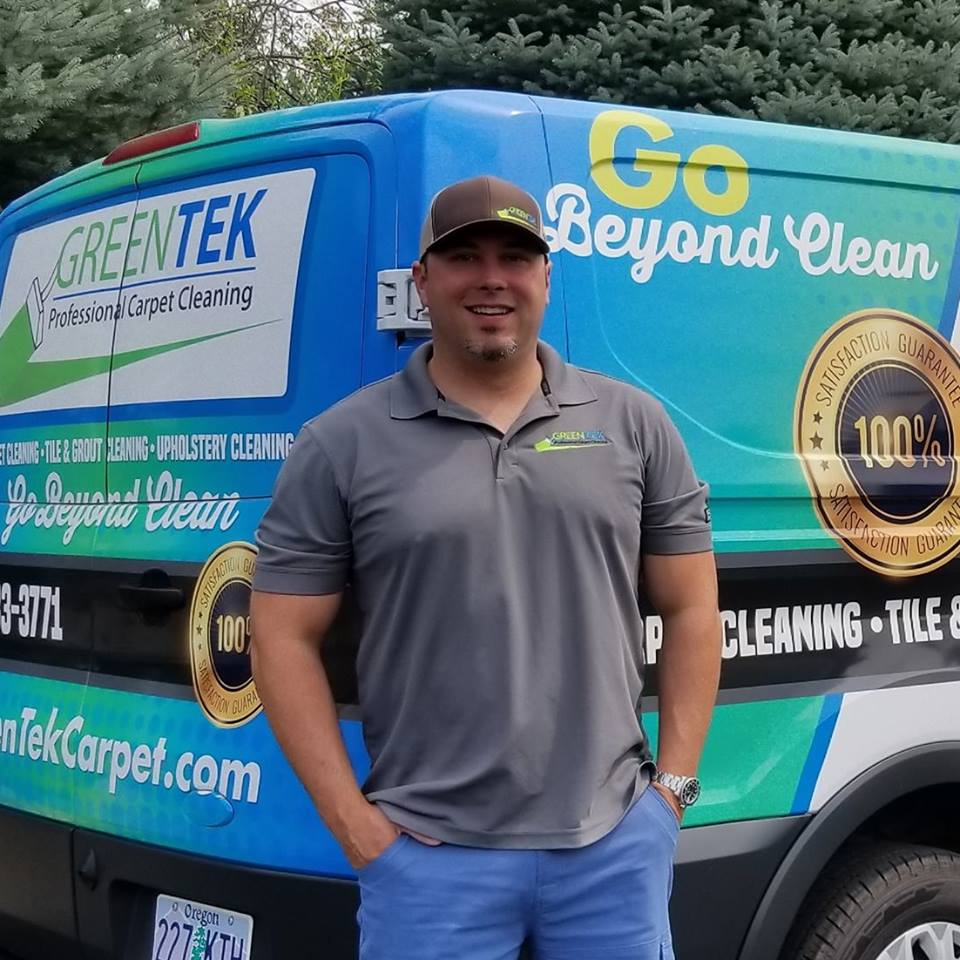 heath founder of GreenTek Carpet Cleaning