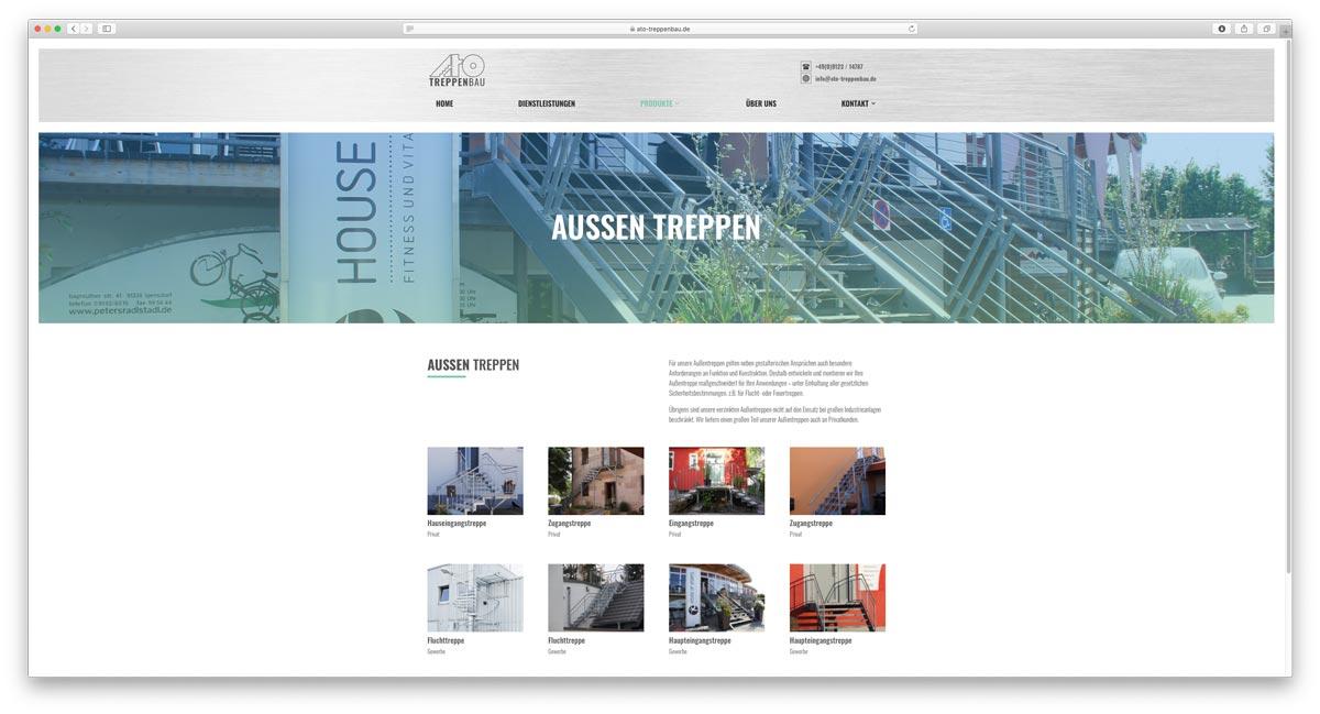Website ATO Treppenbau GmbH Aussentreppen