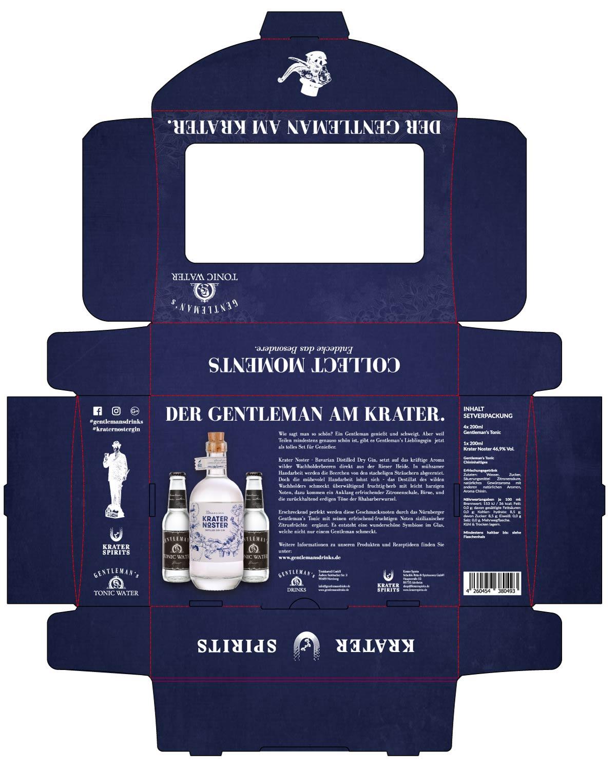 Produktverpackung Gentleman's Tonic & Krater Noster