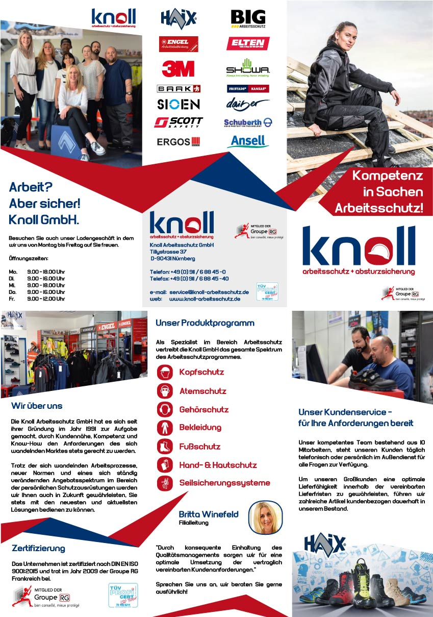 Imagebroschüre Knoll Arbeitsschutz