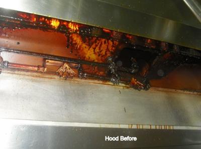 scottsdale restaurant exhaust hood before cleaning