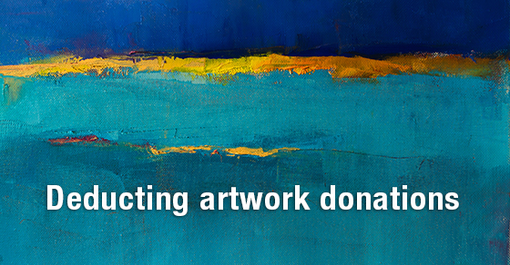 deducting artwork donations